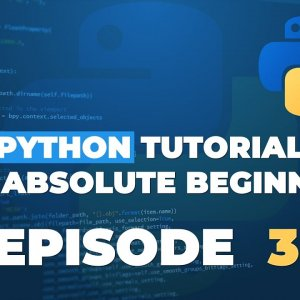Python tutorial for ABSOLUTE Beginners! Variables - Episode 3